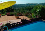 The swimming pool with wonderful views of the valley